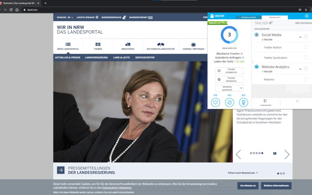 Webseiten Tracking – auch Behörden tracken User